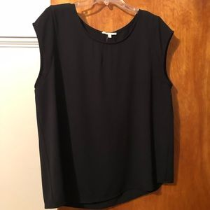 Le lis XL black sleeveless blouse